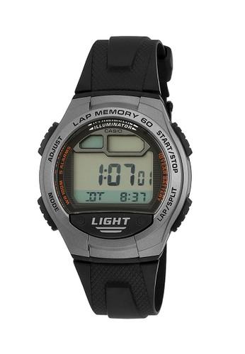 Casio black Casio Jam Tangan Pria - Black Grey - Resin - W-734-1AVDF FB5F6AC452BE25GS_1