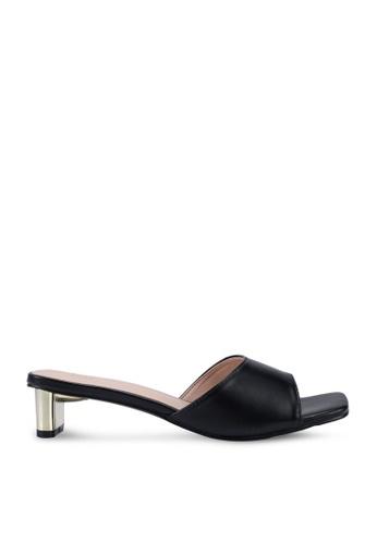 Nose 黑色 Chrome Heel Slides D808ESHA9FDEB4GS_1