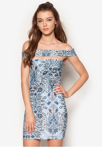 印esprit招聘花鏤空露肩緊身洋裝, 服飾, 洋裝