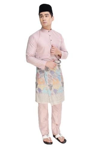 Amar Amran pink Baju Melayu Raja Sehari B8B15AAD8F3F56GS_1