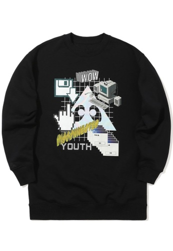 "Mini cream black ""Disconnected Youth"" sweatshirt 7D704AADBB530DGS_1"