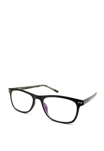 Peculiar and Odd black Peculiar Square Multicoated Eyeglass 2940 with Spring Hinges 3078CGLE20665FGS_1