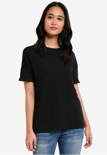 Penshoppe black The Dress Code Relaxed Fit Tee With Pocket 1DF43AADEFBC6FGS_1