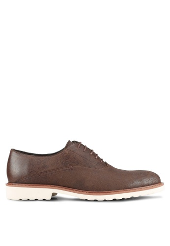ZALORA brown Faux Leather Casual Brogues A24C2AAED899DEGS_1