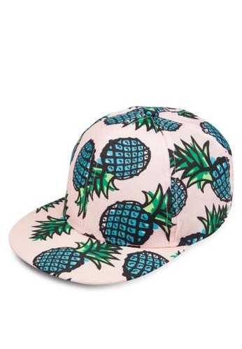 鳳梨印花鴨舌帽, 飾品esprit分店配件, 飾品配件