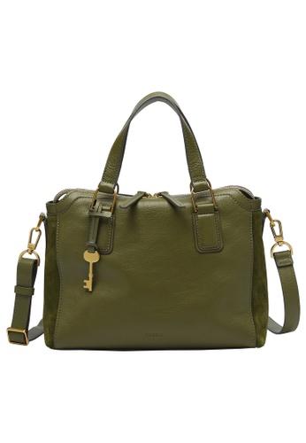 FOSSIL green Jacqueline Satchel Bag ZB1572376 6079AACD42F0E6GS_1