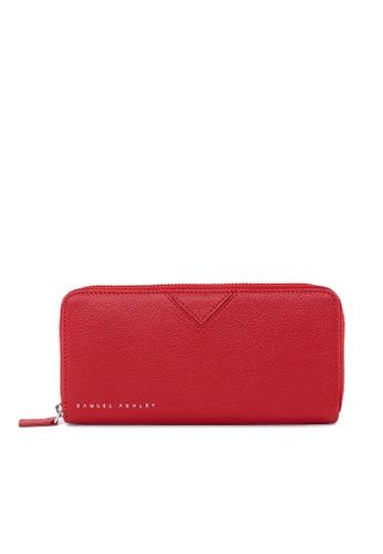 Samuel Ashley red Max Zip-around Wallet - Wine 323AEAC4384999GS_1