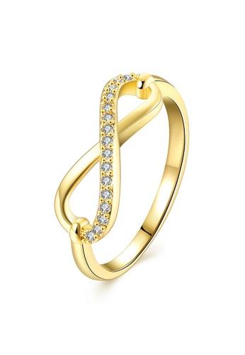 Sopistikada gold 18k Plated Suzette Infinity Ring SO776AC0J5M7PH_1