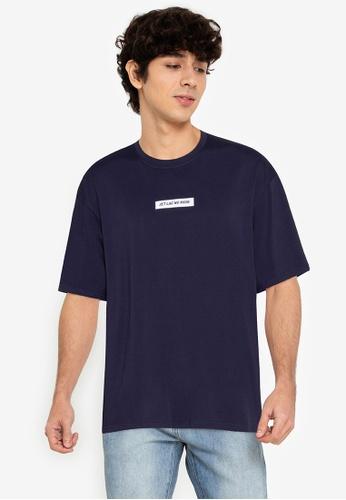 ZALORA BASICS navy Jet Lag No More T-Shirt D990EAA3D1FBDDGS_1