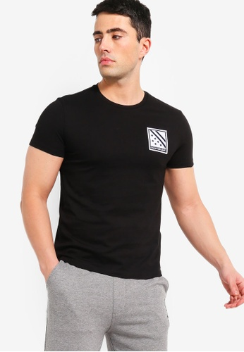 Calvin Klein 黑色 修身短袖T恤 769FEAAEA1DD21GS_1
