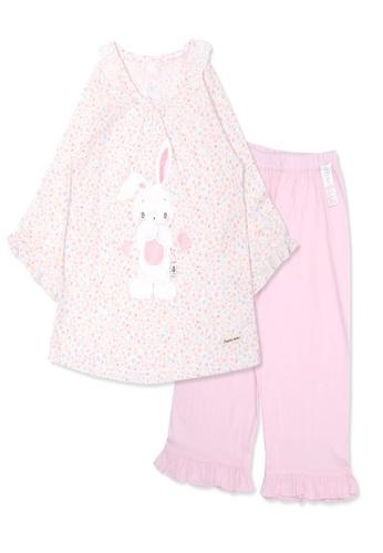 Organic mom pink Organic Cotton Gigi  Rabbit 3/4 Sleeves Pjs 03586KA24F86CEGS_1