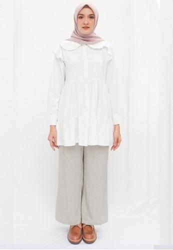 Anggiasari Mawardi white Kamila White Blouse F13B3AA3F3BA86GS_1
