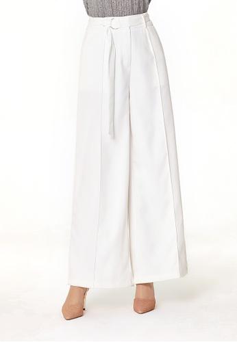 London Rag white White Wide Leg Flared Trousers 9011DAA35F4E60GS_1