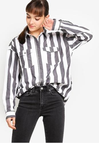 Dr Denim multi Flow Denim Shirt 1EC12AAF049382GS_1