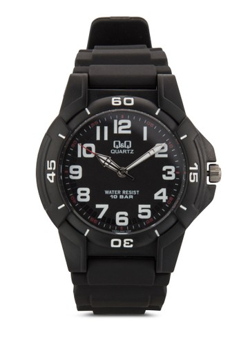 VQ84J002zalora 內衣Y 數字顯示橡膠手錶, 錶類, 飾品配件