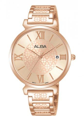 Alba gold Jam Tangan Wanita Alba Original Garansi Resmi AG8K68 AG8K68X1 Strap Stainless Steel Rose Gold Angka Romawi Rose Gold 1196EACA1517A7GS_1