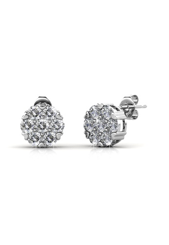Her Jewellery silver Swarovski® Crystals - Brilliance Earrings (18K White Gold Plated) Her Jewellery HE581AC0R9UKMY_1