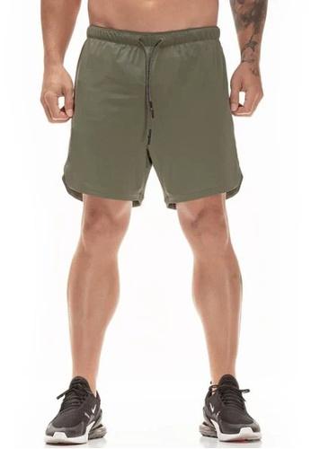 Twenty Eight Shoes 綠色 VANSA 休閒雙層運動短褲  VCM-St063 FCDB9AA2F1F4E6GS_1