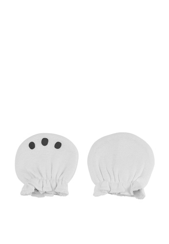 Du Pareil Au Même (DPAM) white Newborn Mittens 4D013KCF40E562GS_1
