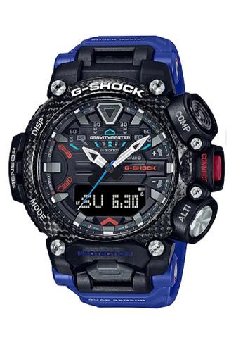 G-Shock black and blue G-shock Men GR-B200-1A2DR Black Blue 1E6D6AC2F5B3B4GS_1