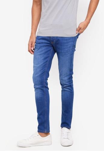 River Island 藍色 緊身牛仔褲 DA16AAA59DE4DCGS_1