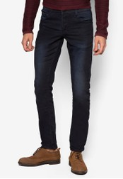 !Solid blue Dexter Stretch Jeans SO701AA12DBRMY_1