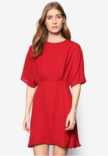 Colleesprit台灣網頁ction 飄逸喇叭五分袖連身裙, 服飾, 洋裝