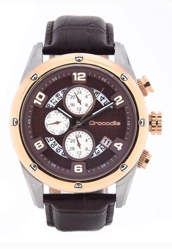Crocodile Timepiece brown Jam Tangan Pria Analog Sports Chrono Strap Kulit CM-018A24F Jam Tangan Pria 0F9EAACFE2F2DEGS_1