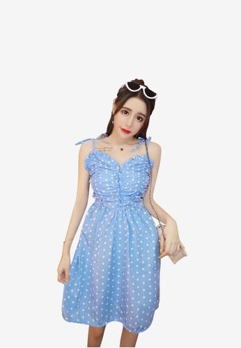 hk-ehunter blue Camisole Spot Patterned Dress F0256AA1743767GS_1