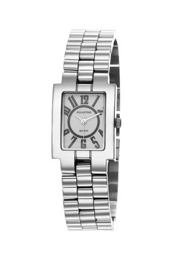 EGLANTINE silver EGLANTINE® Rectangolo Mini Ladies Steel Quartz Watch White Dial on Steel Bracelet E024BACE402B81GS_1