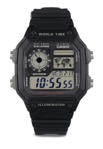CASIO black Men Digital Watches AE-1200WH-1AVDF 04D63AC576450DGS_1
