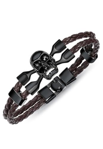 Trendyshop multi Men's Skull Bracelet 428E5ACFF8A3CBGS_1
