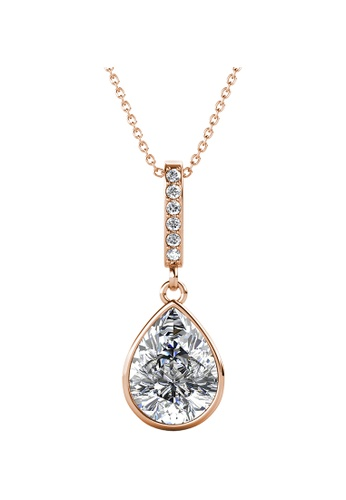 LOVE AND LIFE gold Love & Life Queen Dangling Pendant with Necklace (Rose Gold) embellished with Crystals from Swarovski 9DC38ACFBB6642GS_1
