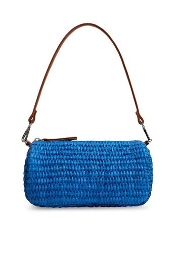 Violeta by MANGO blue Raffia Braided Bag 84991AC3624A1CGS_1
