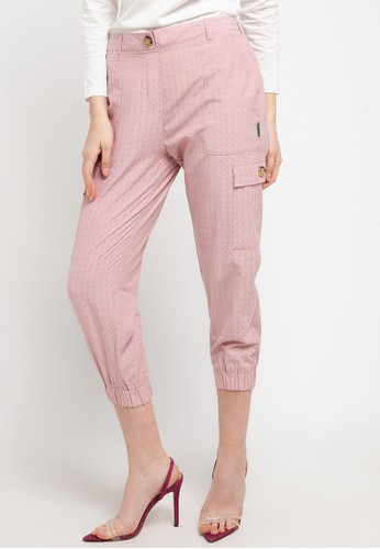 Point One pink JUSTIN Jogger Pant P 84BA2AAD8E43AAGS_1