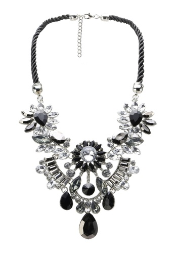 Red's Revenge black Gatsby Chandelier Statement Necklace RE144AC57IUSMY_1