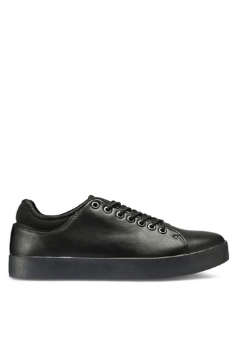 OVS black Textured-Effect Rubber Sneakers F2341SHADFED29GS_1