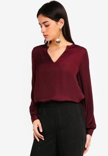 Vero Moda red Sandra Long Sleeve Top 889C0AA672FCCFGS_1
