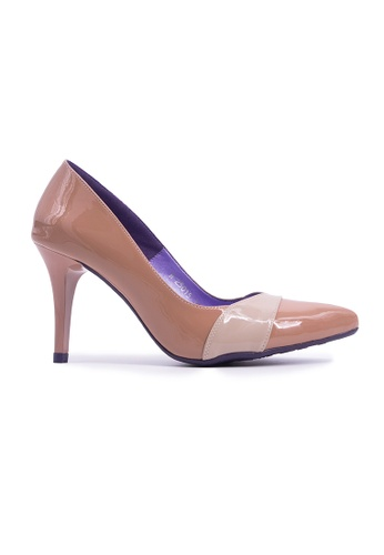 Flatss & Heelss by Rad Russel brown Pointed Simple Heels - Beige A4FF2SHDAC531CGS_1
