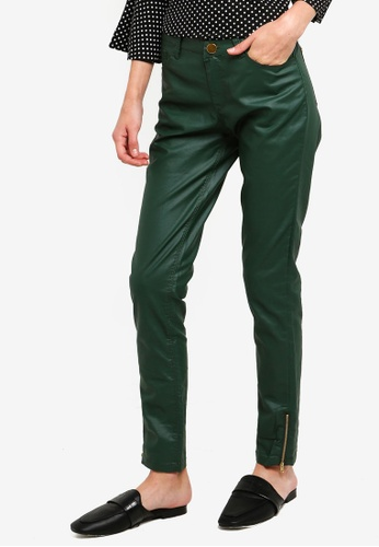 Brave Soul green Coated Five Pocket Western Jeans E3E74AA0A1E9FCGS_1