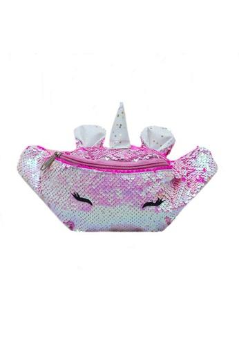 Adkidz pink Adkidz Reversible Sequin Unicorn Belt bag 8F4ACKC800E7B5GS_1