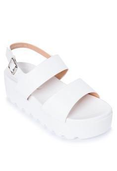 Uni Band Wedge Sandals