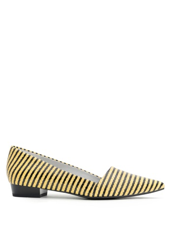 Joy & Peace yellow Striped Pumps JO458SH52RBJHK_1