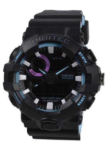 Digitec blue Digitec - Jam Tangan Pria - Black Blue - Resin Strap - DA4112-C 60804AC0C530CFGS_1