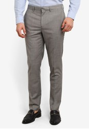 Topman 灰色 Grey Marl Skinny Fit Suit Trousers TO413AA0SC25MY_1