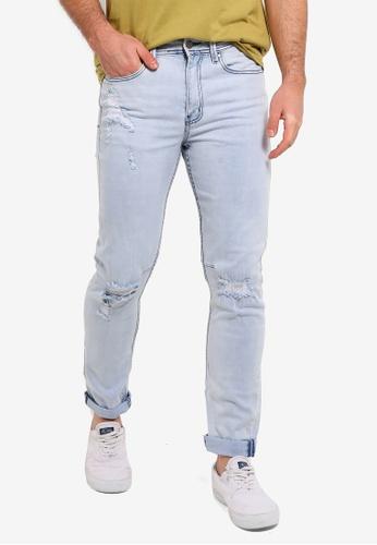 Cotton On 藍色 錐形剪裁牛仔褲 E4A80AAF55DF75GS_1