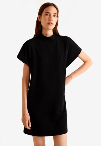 Mango black Ribbed Jersey Dress ACD50AA50E63F5GS_1