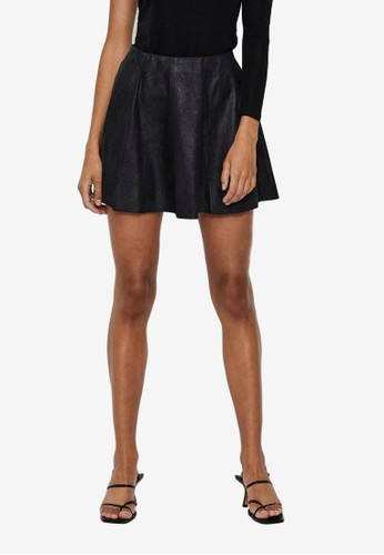 ONLY black Best Neolin Faux Suede Skirt B6711AA9C5AE7FGS_1