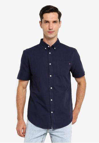 Cotton On navy Vintage Prep Short Sleeve Shirt 7AB8DAA26E552CGS_1