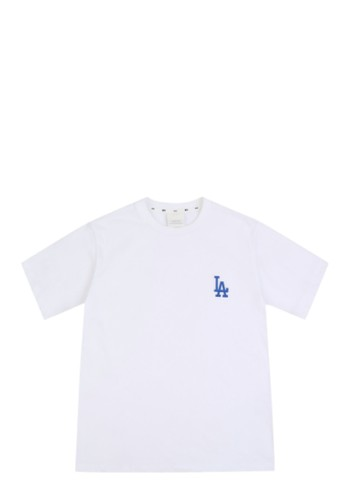 MLB white EMBROIDERY PRINTING SHORT SLEEVE T-SHIRT LA DODGERS WHITE 9814BAA41AE13DGS_1
